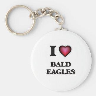 I Love Bald Eagles Keychain