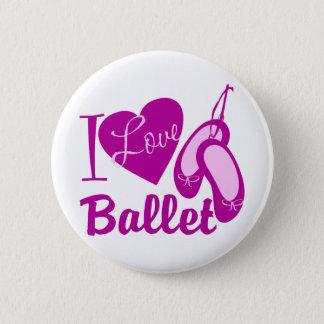 I Love Ballet 2 Inch Round Button