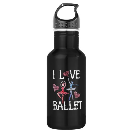 I love ballet 532 ml water bottle