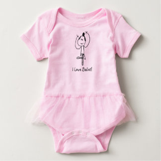 I Love Ballet! Baby Bodysuit