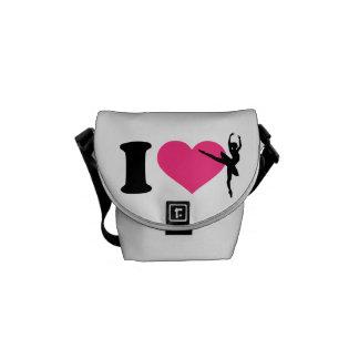 I love ballet ballerina courier bag