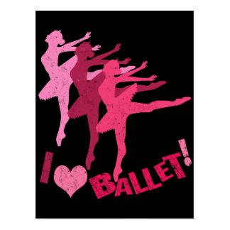 I love Ballet Postcard