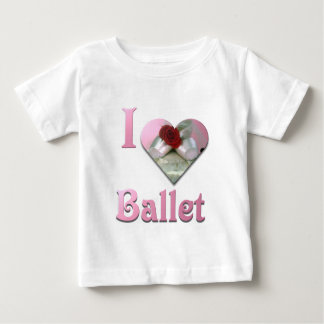 I Love Ballet with red rose Baby T-Shirt