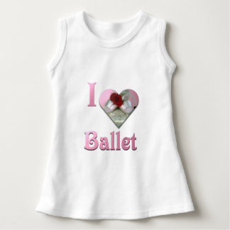 I Love Ballet with red rose Dress