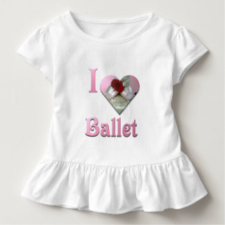 I Love Ballet with red rose Toddler T-shirt