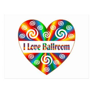I Love Ballroom Postcard