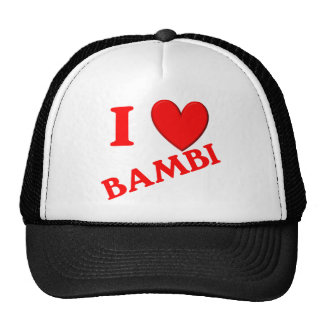 I Love Bambi Hat