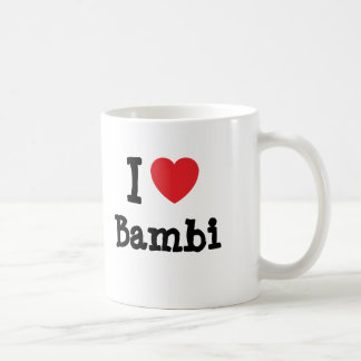 I love Bambi heart T-Shirt Mug
