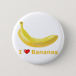 I Love Bananas 2 Inch Round Button