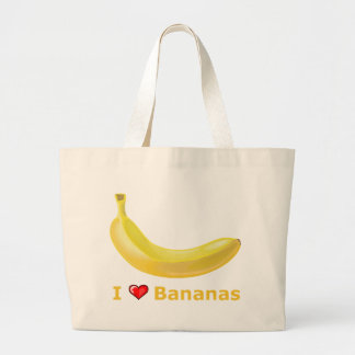 I Love Bananas Jumbo Tote Bag