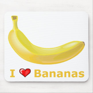I Love Bananas Mouse Pad
