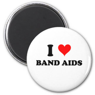 I Love Band Aids 2 Inch Round Magnet