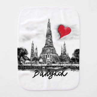 I love Bangkok Burp Cloth