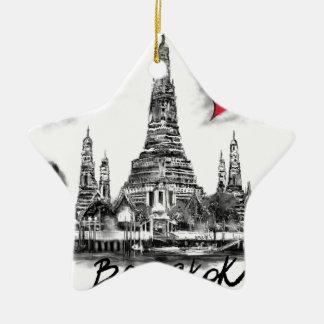 I love Bangkok Ceramic Star Ornament