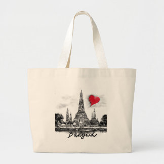 I love Bangkok Large Tote Bag