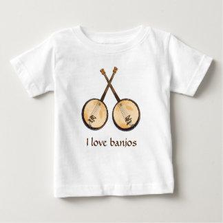 I Love Banjo Music Instruments Baby T-Shirt