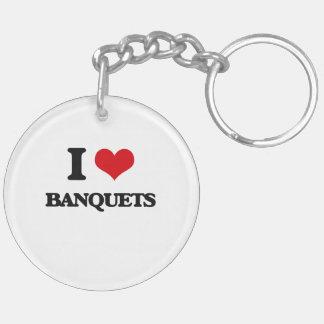 I Love Banquets Key Chains