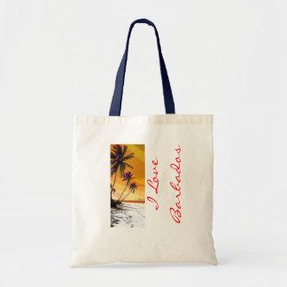 I Love Barbados Tote Bag
