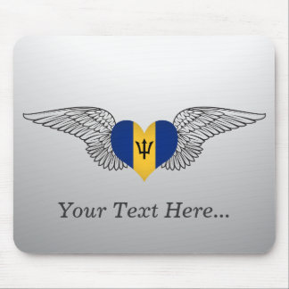 I Love Barbados -wings Mouse Pad