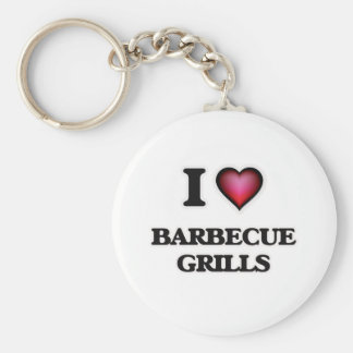 I Love Barbecue Grills Keychain