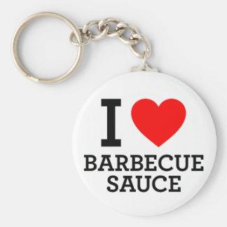 I Love Barbecue Sauce Keychain