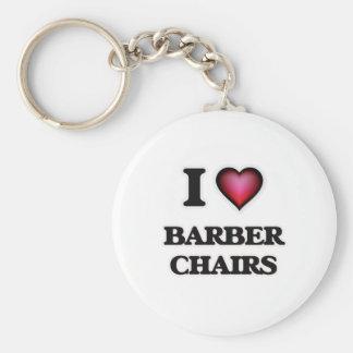 I Love Barber Chairs Keychain