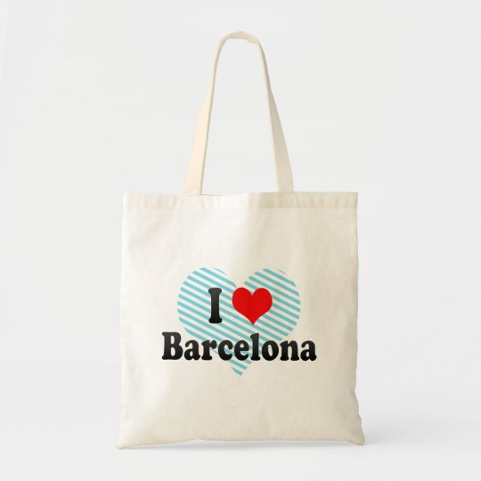 I Love Barcelona, Spain Tote Bag