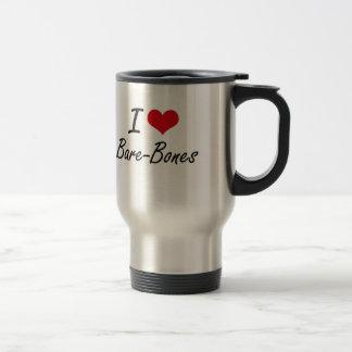 I Love Bare-Bones Artistic Design Stainless Steel Travel Mug