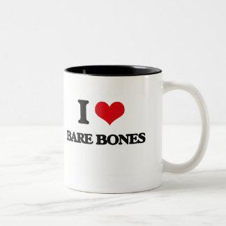 I Love Bare-Bones Coffee Mugs
