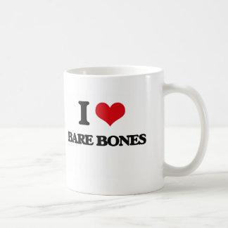 I Love Bare-Bones Mugs