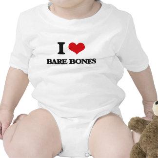 I Love Bare-Bones Baby Bodysuit