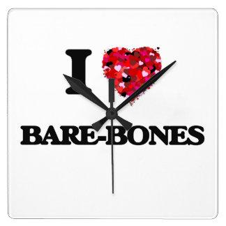 I Love Bare-Bones Wallclock