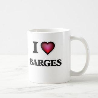 I Love Barges Coffee Mug