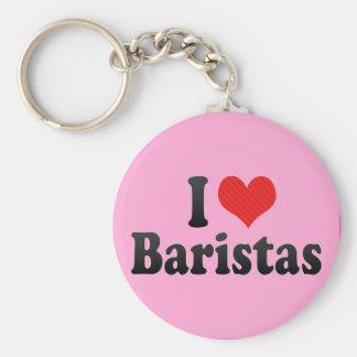 I Love Baristas Keychain