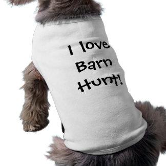 I love Barn Hunt! Dog Shirt