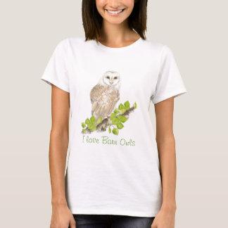 I love Barn Owls - Bird T-Shirt