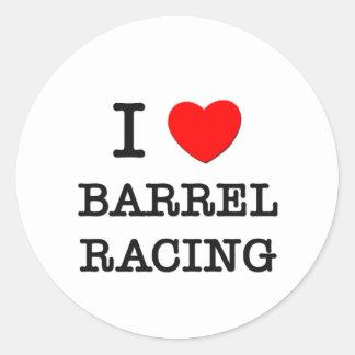 I Love Barrel Racing Classic Round Sticker