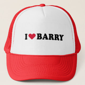 I LOVE BARRY TRUCKER HAT