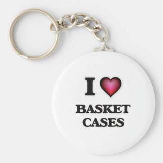 I Love Basket Cases Basic Round Button Keychain