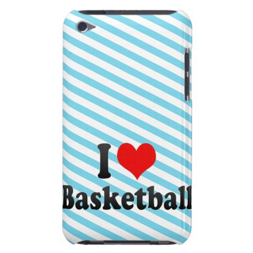 I love Basketball Barely There iPod Cases
