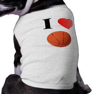 I Love Basketball Dog Tank Tops