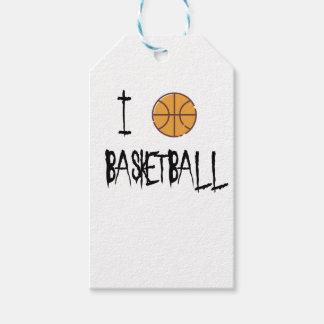 I Love Basketball Gift Tags