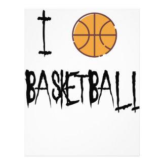 I Love Basketball Letterhead