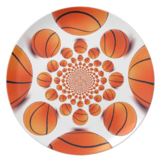 I love basketball plate