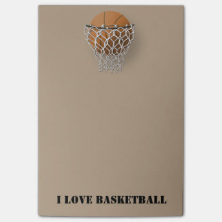 """""""I Love Basketball"""" Post-it® Notes 4 x 6"""