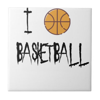 I Love Basketball Tile