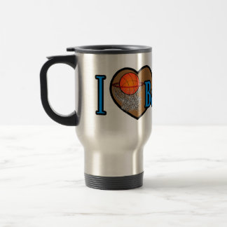 I Love Basketball Travel Mug