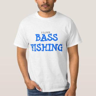I Love Bass Fishing T Shirts