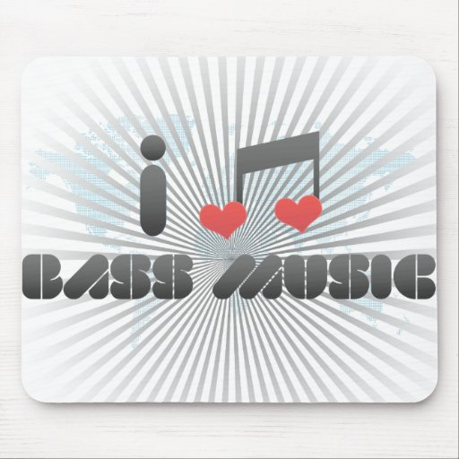 I Love Bass Music Mouse Pads