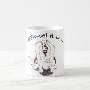 I love basset hounds 11 oz Classic Mug